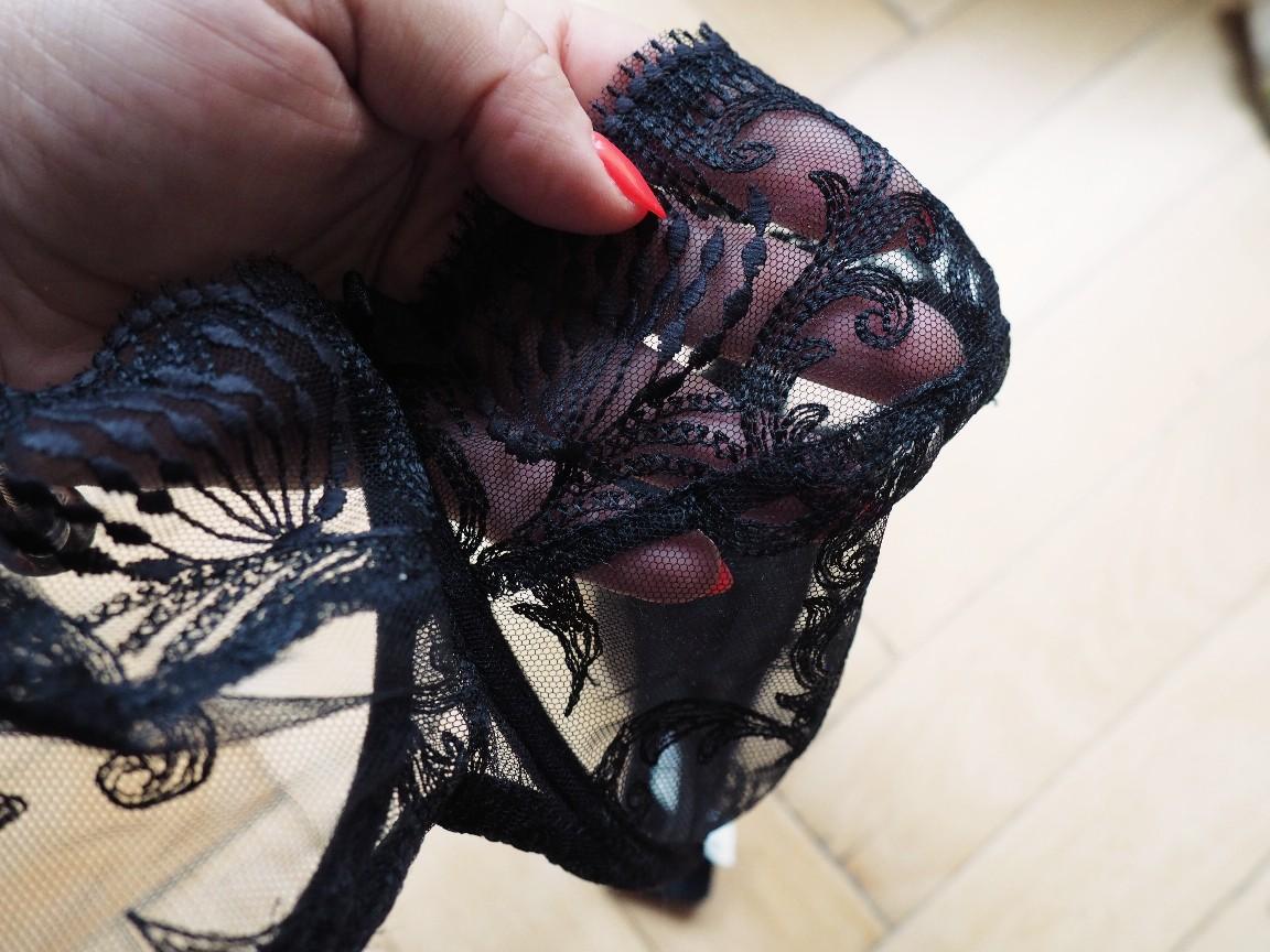 czarne baronessy - bielizna plus size
