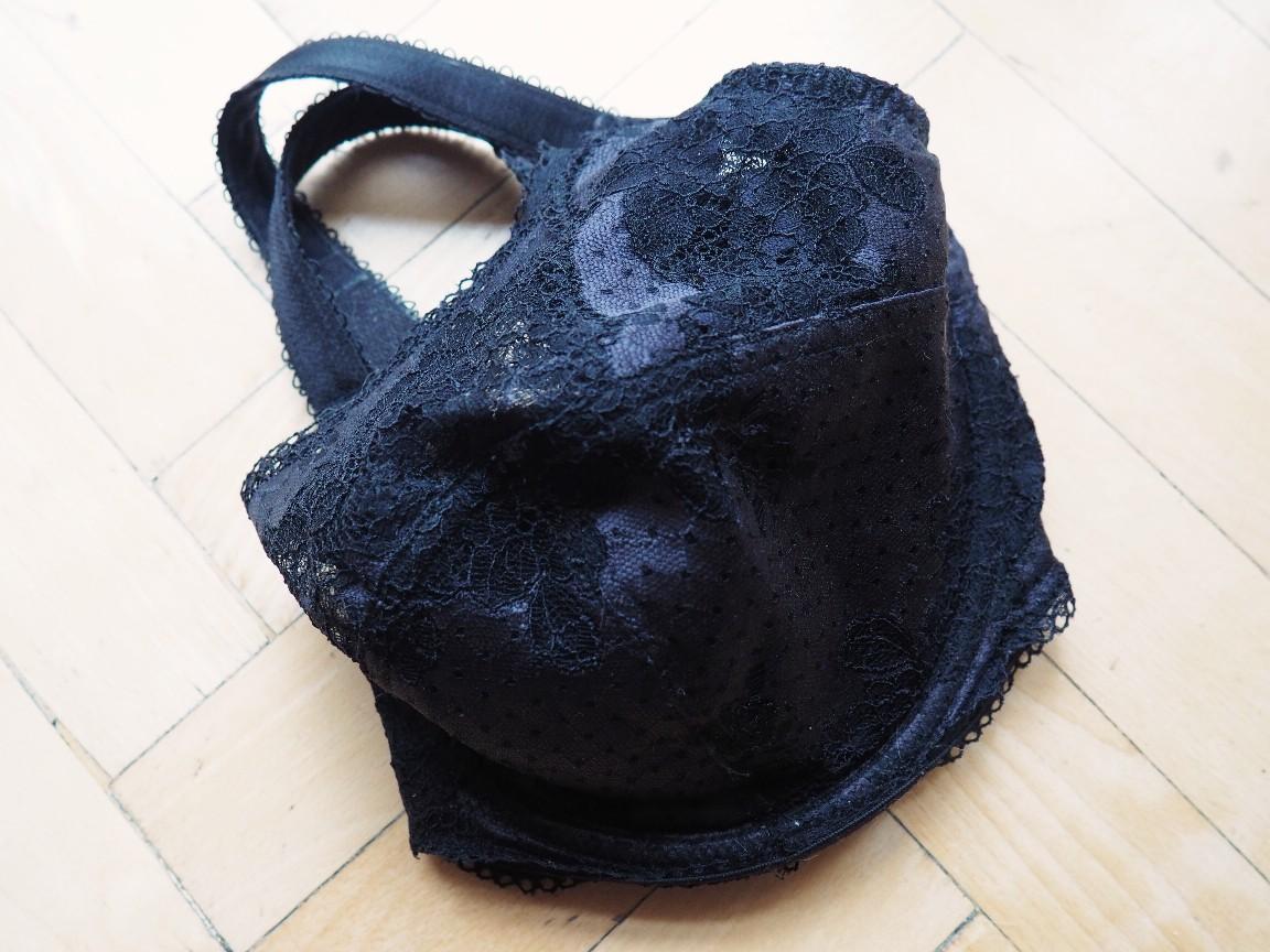 czarne baronessy - bieizna plus size